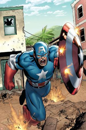 Marvel Adventures Super Heroes No.8 Cover: Captain America