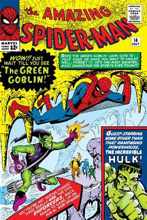 Amazing Spider-Man No.14 Cover: Spider-Man, Green Goblin and Hulk