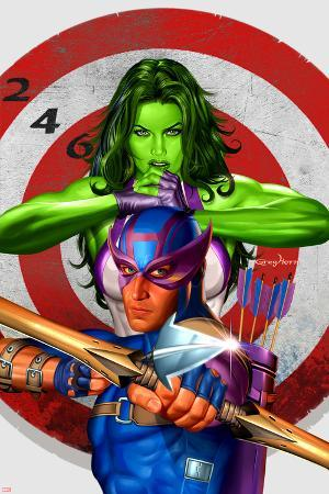 She-Hulk No.2 Cover: She-Hulk and Hawkeye
