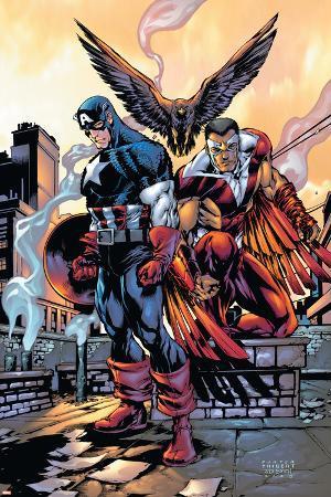 Captain America And The Falcon No.10 Cover: Captain America and Falcon