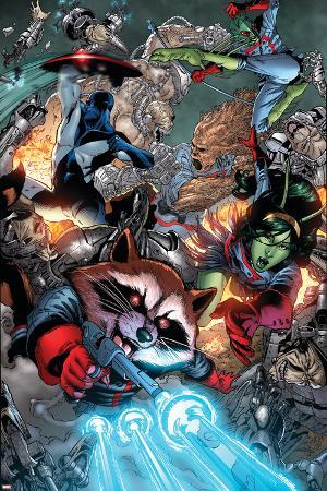 Guardians Of The Galaxy No.8 Group: Rocket Raccoon, Major Victory, Bug and Mantis