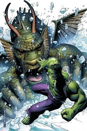 Hulk Vs. Fin Fang Foom No.1 Cover: Hulk and Fin Fang Foom