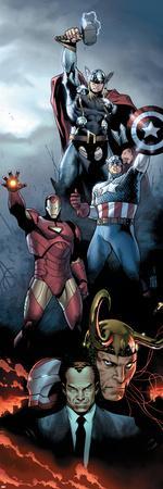 Siege No.1 Cover: Iron Man, Captain America and Thor