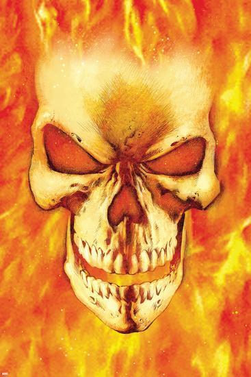 Ghost rider headshot ghost rider poster by mark - Dessin de ghost rider ...