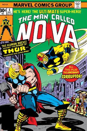 Nova: Origin Of Richard Rider - The Man Called Nova No.4 Cover: Nova and Thor