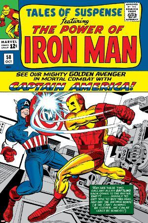 Tales Of Suspense No.58 Cover: Iron Man and Captain America Fighting