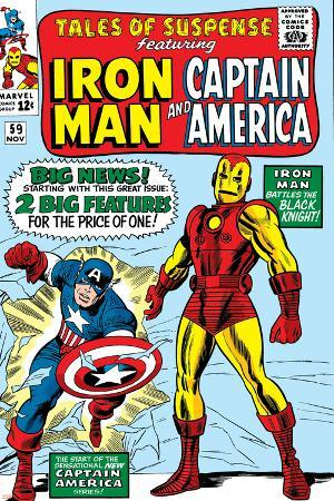 Tales Of Suspense No.59 Cover: Iron Man and Captain America Charging