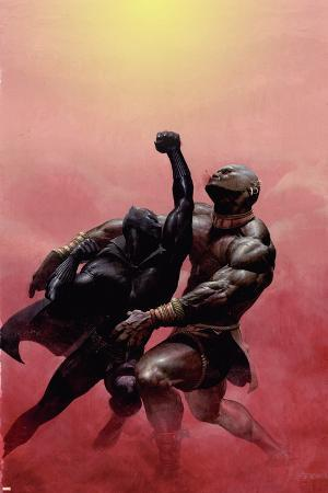 Black Panther No.2 Cover: Black Panther Charging
