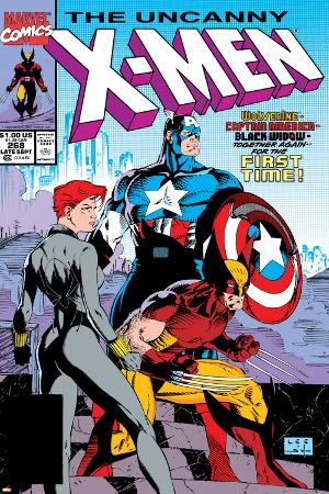 Uncanny X-Men No.268 Cover: Black Widow, Wolverine and Captain America
