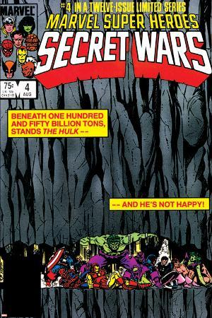 Secret Wars No.4 Cover: Hulk and Captain America