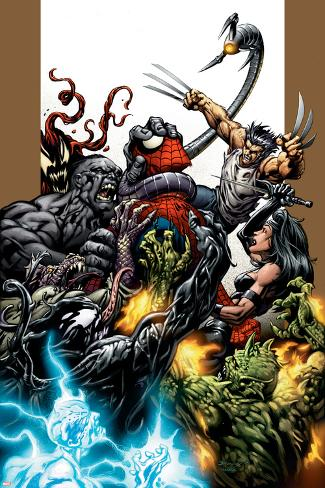 ultimate spider-man no.71 cover: spider-man, wolverine, green goblin