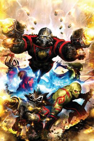 Guardians Of The Galaxy No.1 Cover: Star-Lord, Drax The Destroyer and Rocket Raccoon