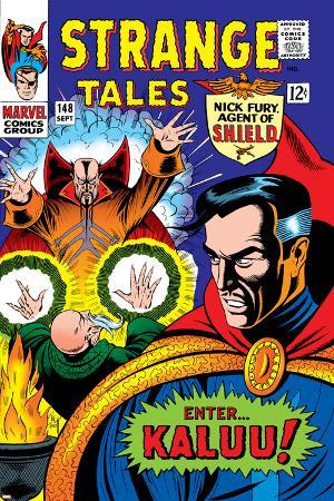 Strange Tales No.148 Cover: Dr. Strange, Ancient One and Kaluu