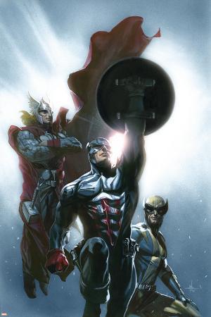 Secret Invasion No.8 Cover: Captain America, Wolverine and Thor