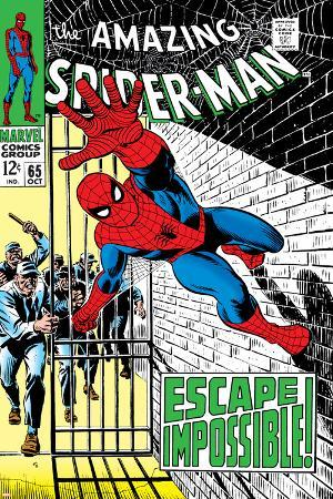 The Amazing Spider-Man No.65 Cover: Spider-Man Charging