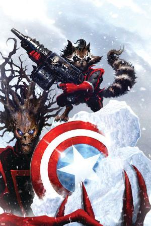 Guardians Of The Galaxy No.2 Cover: Rocket Raccoon and Groot
