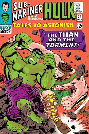 Tales to Astonish No.79 Cover: Hulk and Hercules