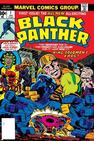 Black Panther No.1 Cover: Black Panther, Little, Abner and Princess Zanda Fighting