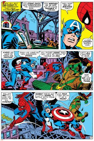 Captain America And The Falcon Group: Captain America, Falcon and Spider-Man