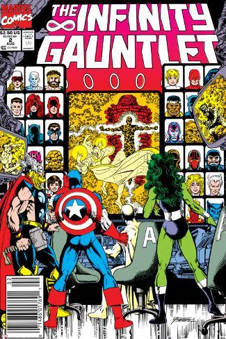 Infinity Gauntlet No2 Cover Captain America Thor And She Hulk
