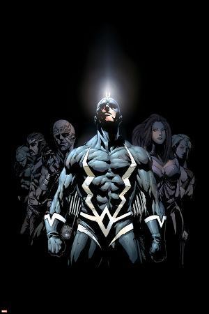 Inhumans 2099 No.1 Cover: Black Bolt and Inhumans Flying