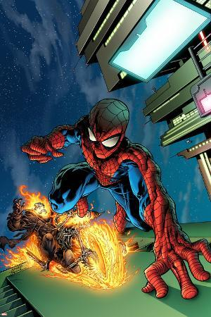 Timestorm 2009/2099 No.4 Cover: Spider-Man and Ghost Rider