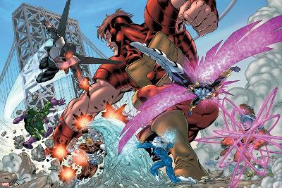 New Thunderbolts No.2 Group: Atlas, Mach IV, Songbird, Wrecking Crew and New Thunderbolts