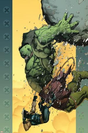 Ultimate Wolverine vs. Hulk No.6 Cover: Hulk and Wolverine