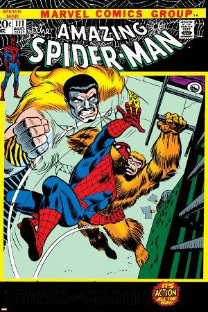 The Amazing Spider-Man No.111 Cover: Spider-Man, Gibbon and Kraven The Hunter