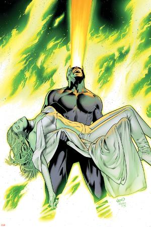 X-Men: Phoenix - Endsong No.4 Cover: Cyclops and Emma Frost