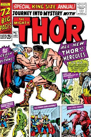 Journey Into Mystery: Thor No.1 Cover: Thor and Hercules Fighting