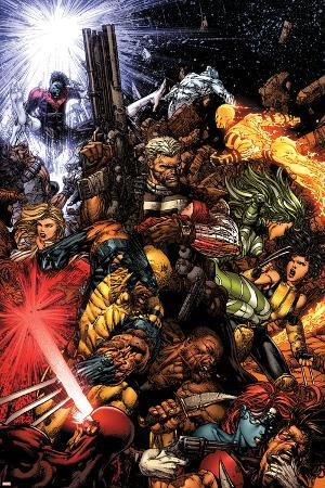 X-Men No.207 Cover: Wolverine and Cable