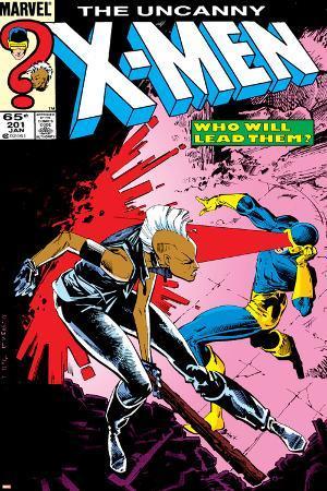 Uncanny X-Men No.201 Cover: Storm and Cyclops