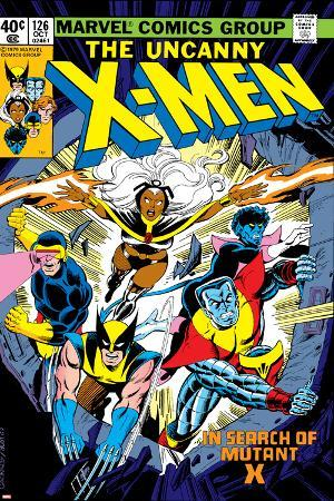 Uncanny X-Men No.126 Cover: Wolverine, Colossus, Storm, Cyclops, Nightcrawler and X-Men Fighting