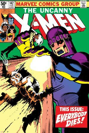 Uncanny X-Men No.142 Cover: Wolverine and Sentinel