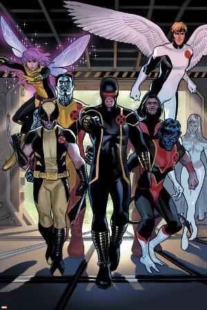 X-Men Legacy Annual No.1 Group: Cyclops, Wolverine, Nightcrawler and Angel