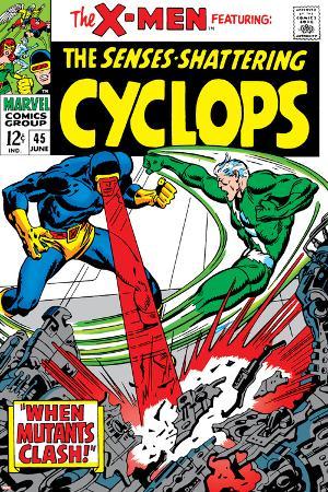 X-Men No.45 Cover: Quicksilver and Cyclops