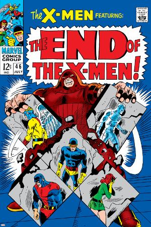X-Men No.46 Cover: Juggernaut, Cyclops, Beast, Angel, Grey, Jean and X-Men