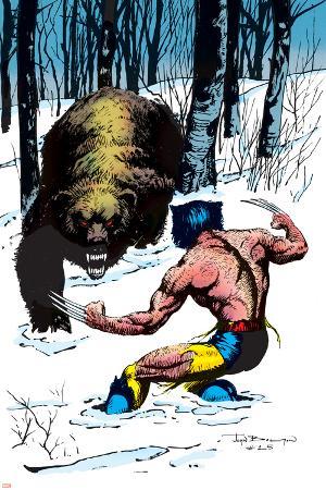 Classic X-Men No.25 Cover: Wolverine Swinging