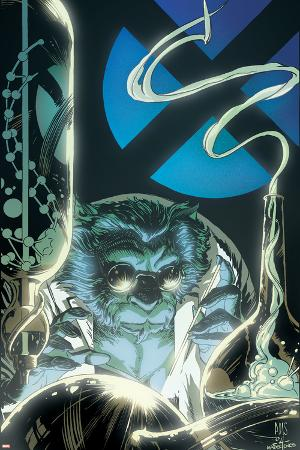 X-Men Unlimited No.10 Cover: Beast Fighting
