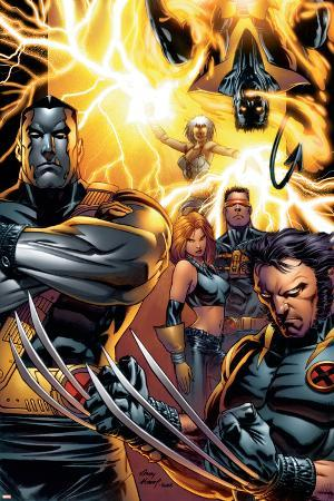 Ultimate X-Men No.50 Cover: Colossus, Wolverine, Nightcrawler, Grey, Jean, Cyclops, Storm and X-Men