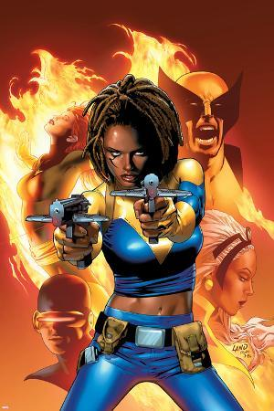 X-Men: The End No.2 Cover: Bishop, Aliyah, Wolverine, Storm and Cyclops