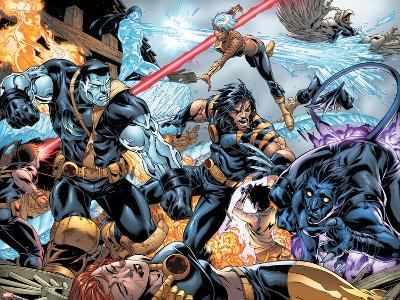 Ultimate X-Men No.97 Group: Wolverine, Colossus, Nightcrawler, Storm and Iceman