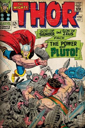 Marvel Comics Retro: The Mighty Thor Comic Book Cover No.128, Hercules (aged)