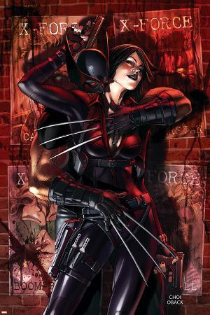 X-Force No.9 Cover: Wolverine and Domino