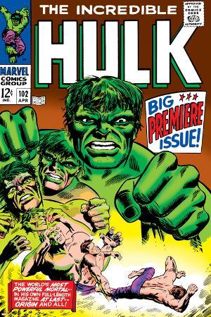 Marvel Comics Retro: The Incredible Hulk Comic Book Cover No.102, Big Premiere Issue