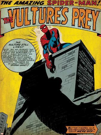 Marvel Comics Retro: The Amazing Spider-Man Comic Panel, the Vulture's Prey (aged)