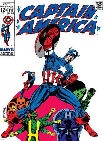 Marvel Comics Retro: Captain America Comic Book Cover No.111, with Hydra and Bucky