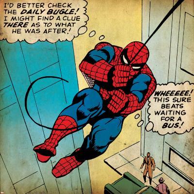 Marvel Comics Retro: The Amazing Spider-Man Comic Panel (aged)