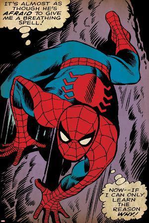 Marvel Comics Retro: The Amazing Spider-Man Comic Panel, Crawling (aged)